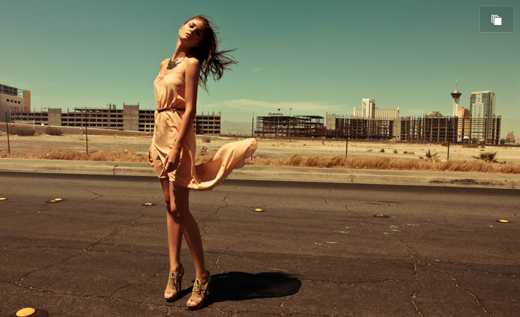 Vegas, a fashion editorial by Marie Schmidt